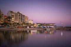 Reflejos en el puerto de Benidorm